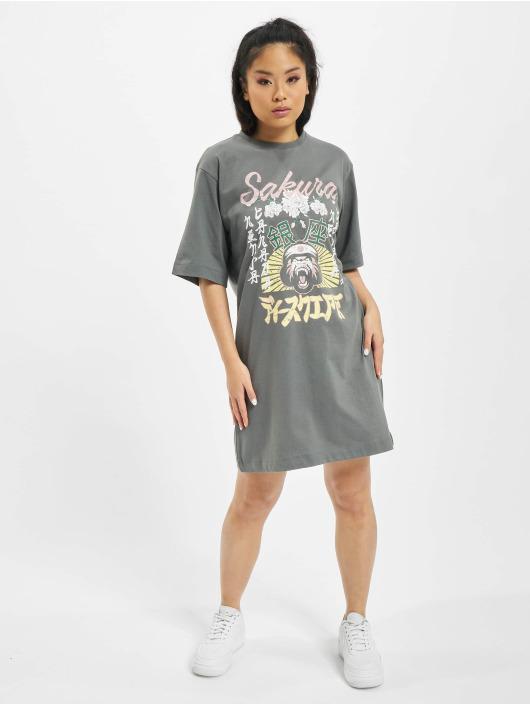 Missguided Sukienki Oversized T-Shirt SS Sakura szary