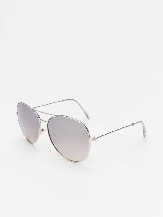 Missguided Sunglasses Glam Aviator silver colored