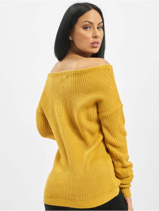 Missguided Svetry Tall Core Off Shoulder žlutý