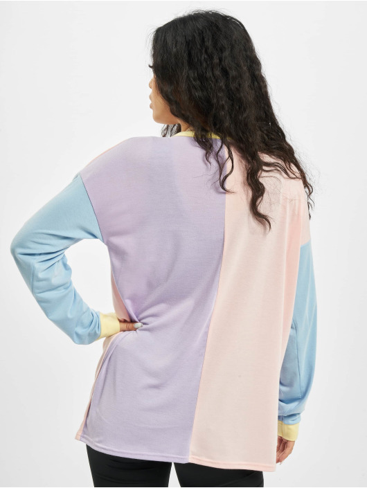 Missguided Svetry 4 Colour Block Over Size barvitý