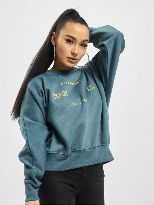 Missguided Svetry Oversize modrý