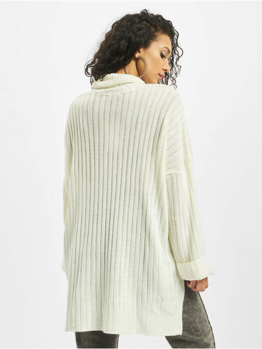Missguided Sweat & Pull Premium Roll Neck Step Hem blanc