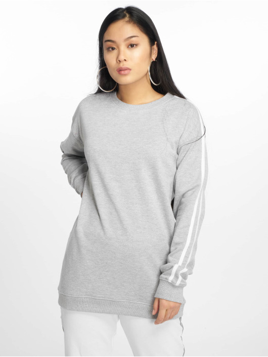 Gris Pull Femme Sweatamp; Stripe 630405 Missguided QthCrds