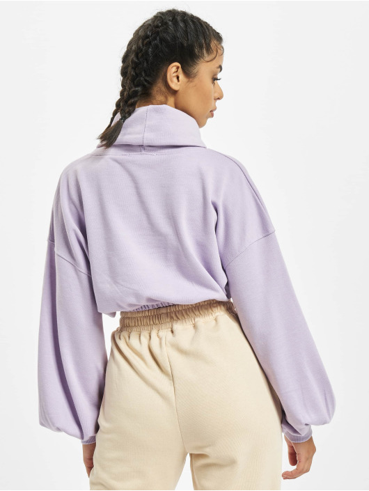 Missguided Sweat & Pull Crop Cowl Neck pourpre