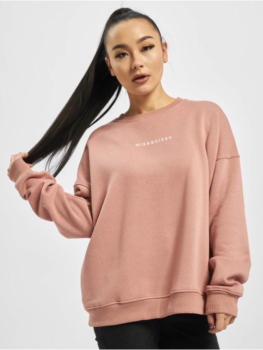 Missguided Sweat & Pull Basic Oversized rose