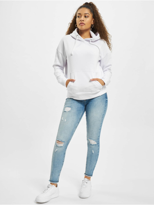 Missguided Sweat capuche Petite Basic blanc