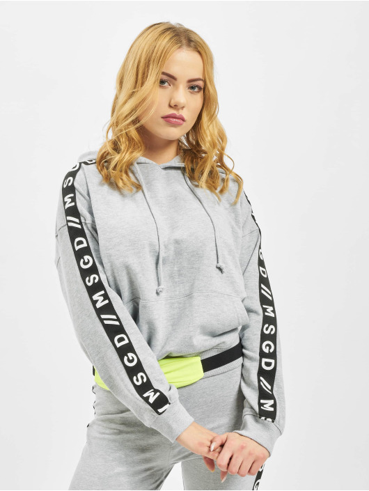 Missguided Sweat capuche Slogan Sleeve Lounge gris
