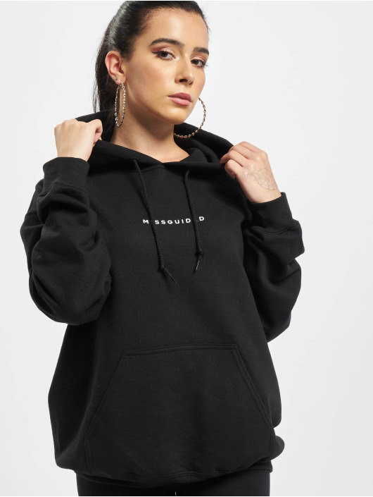 Missguided Sweat capuche Oversized noir