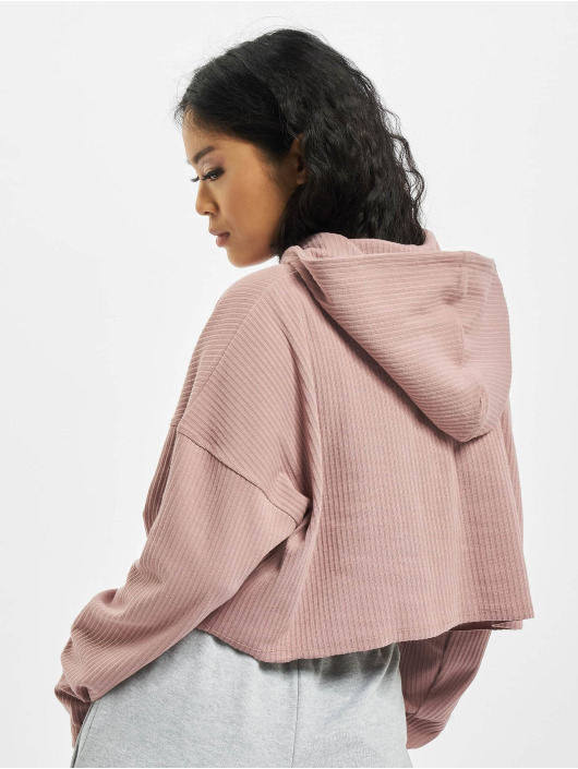 Missguided Sweat capuche Cropped pourpre