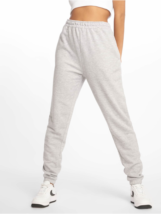 Missguided Sweat Pant Tall Grey Marl Basic gray