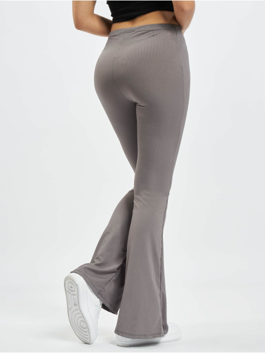 Missguided Sweat Pant Ribbed Flare grey