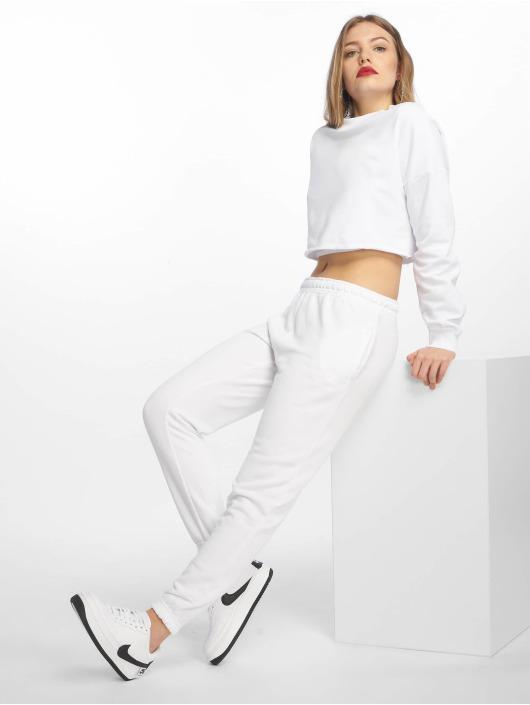 Missguided Sweat Pant White Basic white