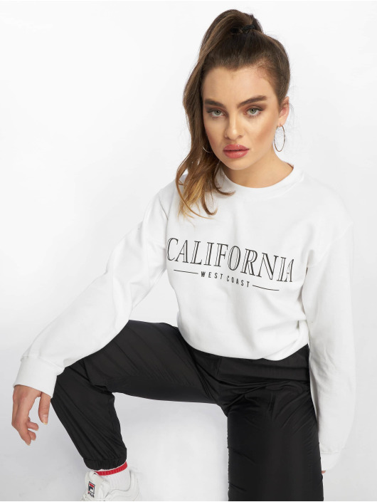 Missguided Swetry California Slogan bialy