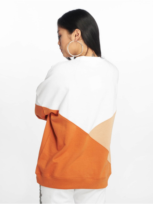 Missguided Swetry Rodeo Drive Colourblock bialy