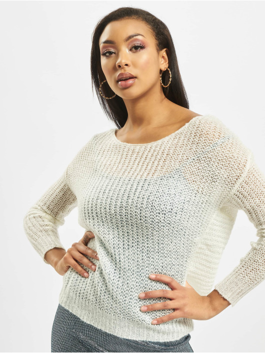 Missguided Swetry Twist Back bialy