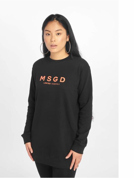 Missguided Swetry Oversized Crew Neck czarny