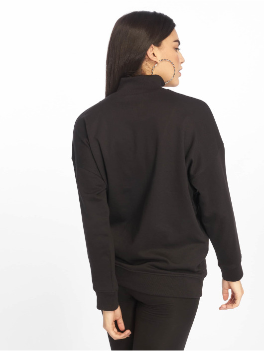 Missguided Swetry City Of Angels Zip Over Sized czarny