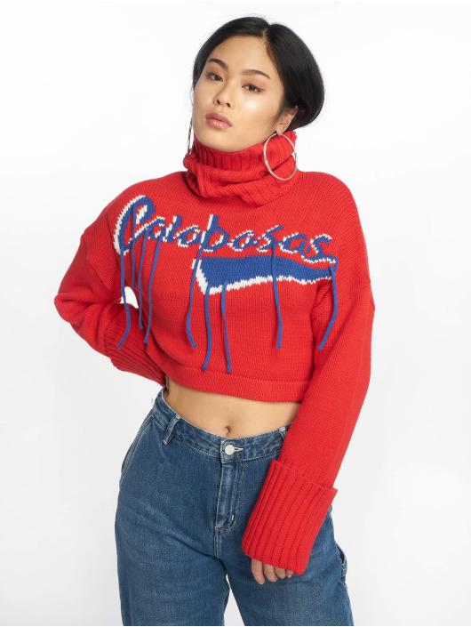 Missguided Swetry Calabasas Tassel czerwony
