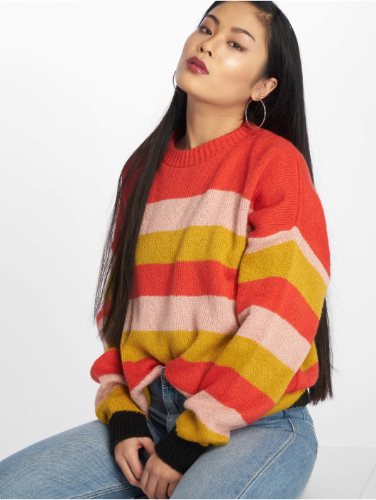 Missguided Swetry Colourblock Stripe czerwony
