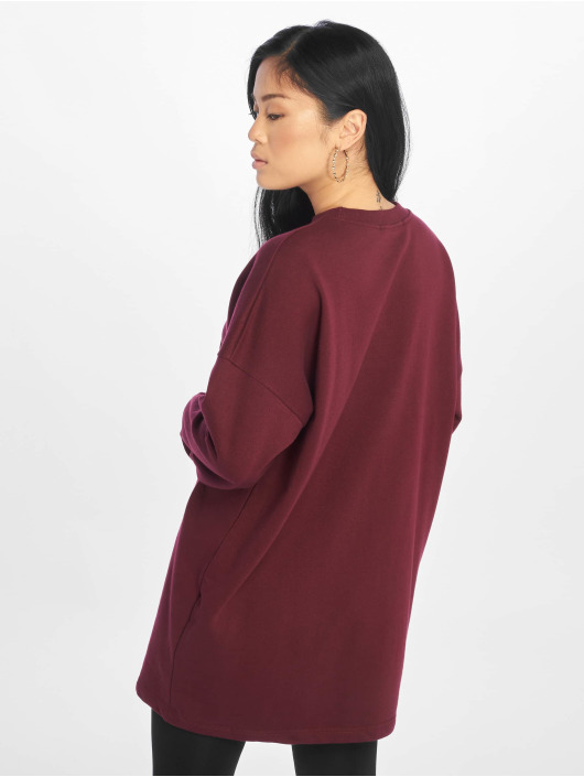 Missguided Swetry Crew Neck Longline fioletowy