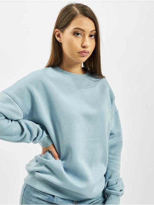 Missguided Swetry Oversized Crew Neck niebieski