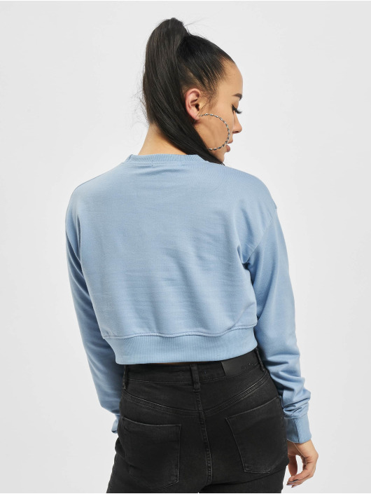 Missguided Swetry Cropped Rib Hem niebieski