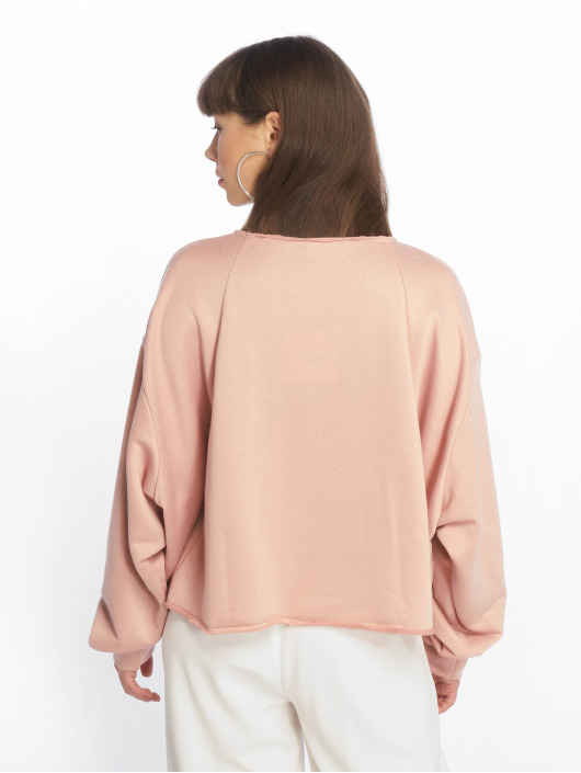 Missguided Swetry Calabasas Cropped rózowy