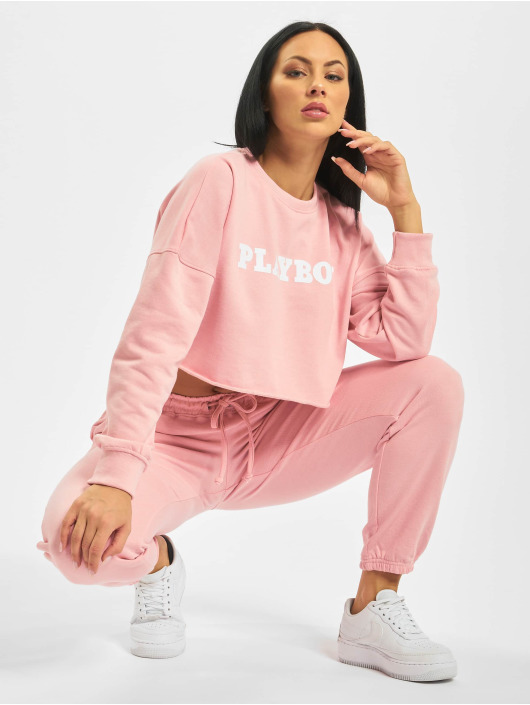 Missguided Swetry Playboy Longsleeve Lounge rózowy