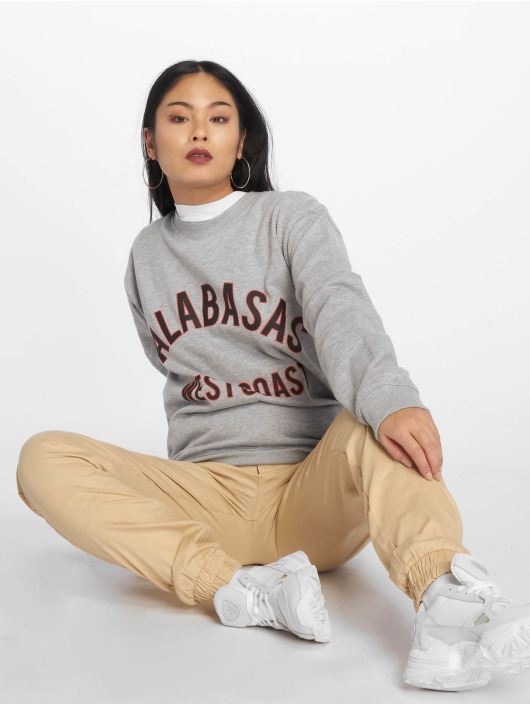 Missguided Swetry Calabasas West Coast Slogan szary