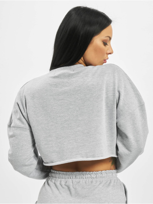 Missguided Swetry Playboy Longsleeve Lounge szary