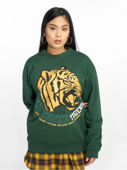 Missguided Swetry Tennessee Tigers Graphic zielony