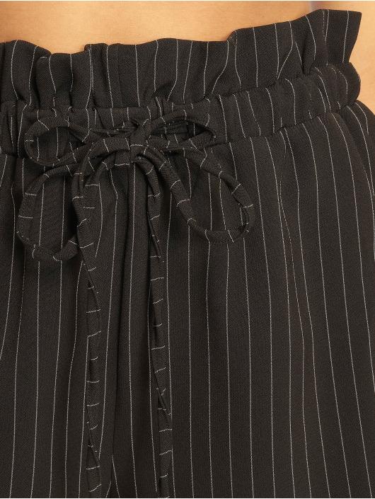 Missguided Szorty Pinstripe Gathered Wasit czarny