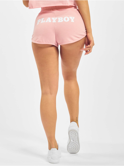 Missguided Szorty Playboy Lounge Runner rózowy