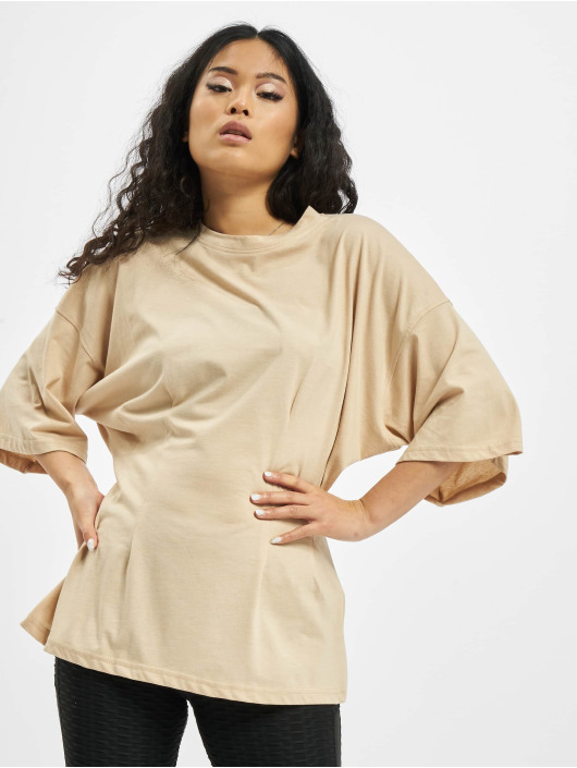 Missguided T-paidat Structured Body Oversize beige