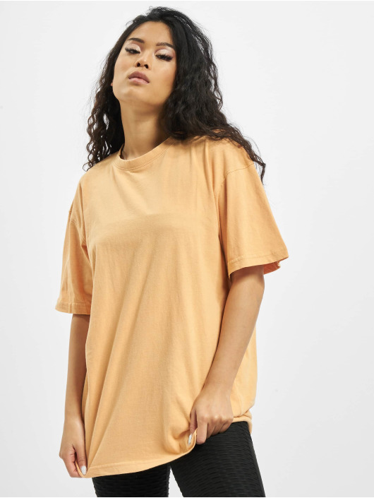 Missguided T-shirt Washed Oversize apelsin