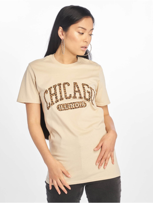 Missguided T-Shirt Chicago Leopard Graphic beige