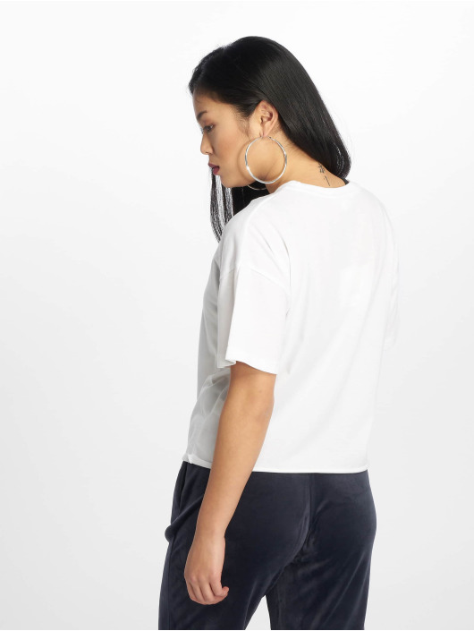 Missguided T-shirt Raw Hem Crew bianco