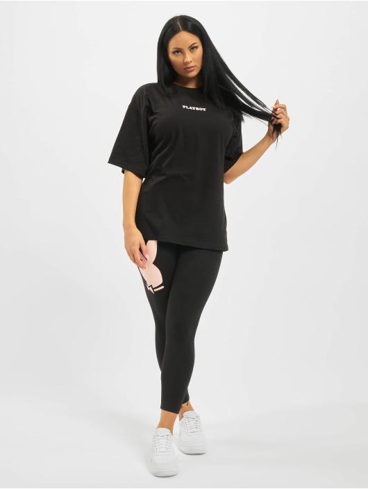 Missguided T-Shirt Playboy Mansion Magazine OS black