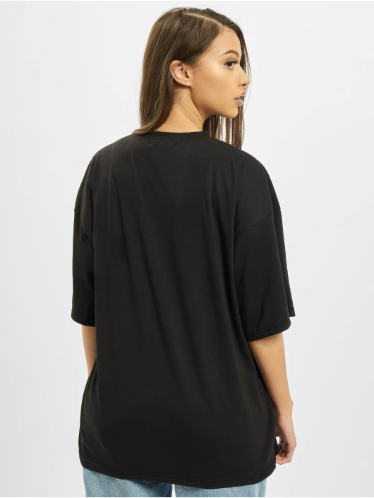 Missguided T-Shirt Co Ord Paradise Print Drop Shoulder black
