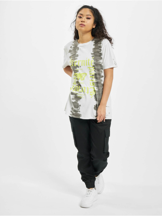 Missguided T-Shirt Tie Dye Butterfly Oversized Graphic blanc