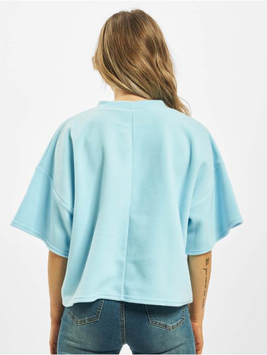 Missguided T-Shirt Fleece Oversized Coord blau
