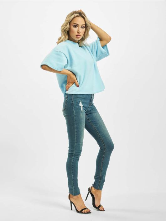 Missguided T-Shirt Fleece Oversized Coord blue