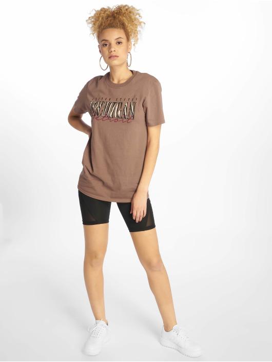 Missguided T-Shirt Michigan Leopard Print brown