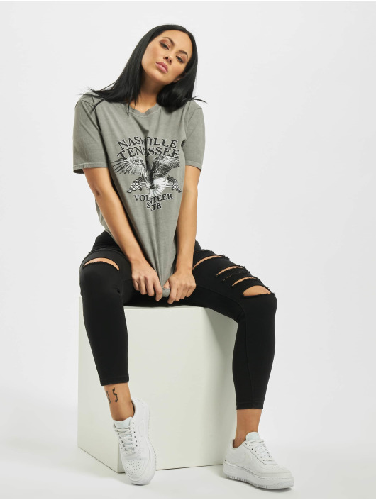 Missguided T-Shirt Nashville Eagle Graphic gray