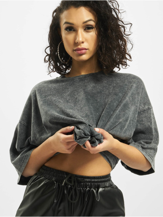 Missguided T-Shirt Petite Drop Shoulder Oversized gray