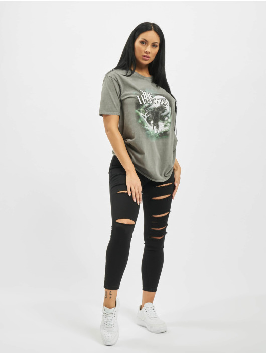 Missguided T-Shirt The Wanderer Eagle Graphic grey