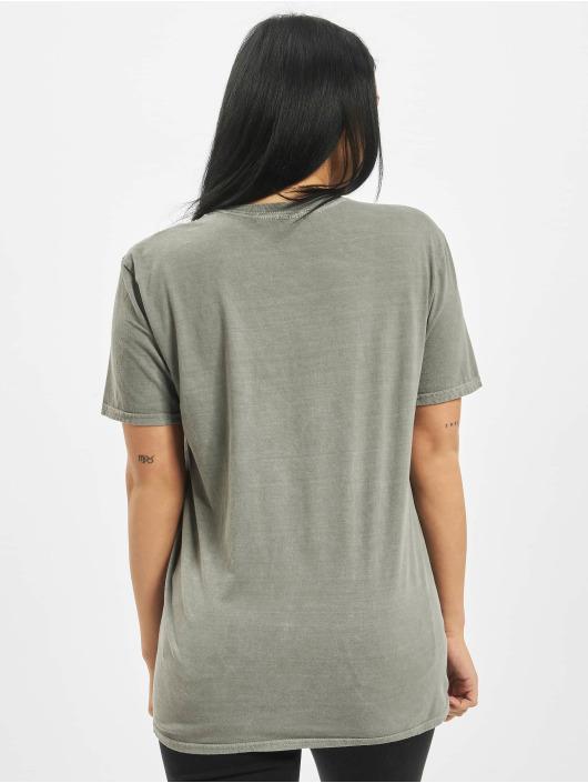 Missguided T-Shirt Flower Vintage Wash Graphic grey