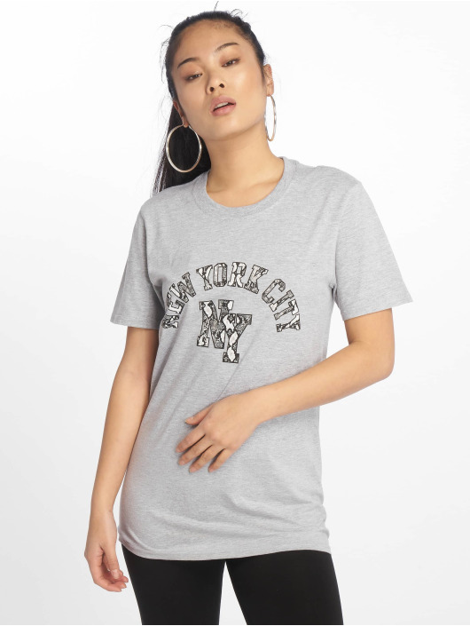 Missguided T-Shirt NYC Snake Print Graphic gris