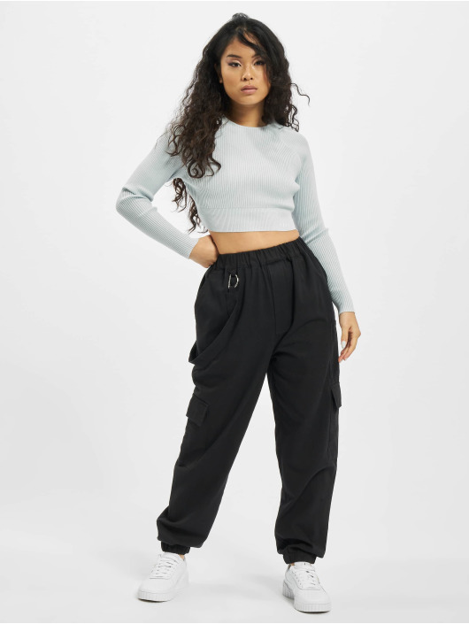 Missguided T-Shirt manches longues Petite Msgd Co Ord bleu