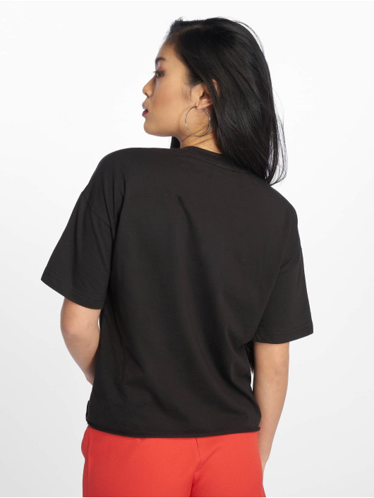 Missguided T-Shirt Raw Hem Crew Neck noir